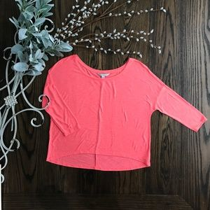 American Eagle Outfitters Neon Pink/Orange Top